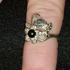 Harley Davidson  Black Onyx ring